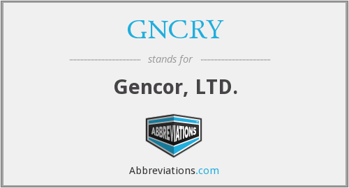 What does GNCRY stand for?