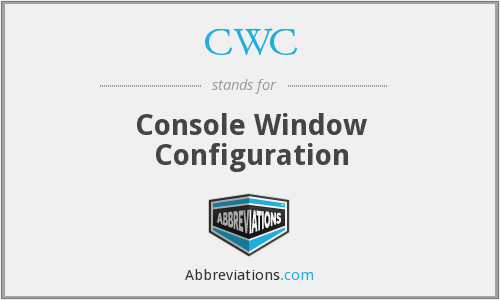 CWC - Console Window Configuration