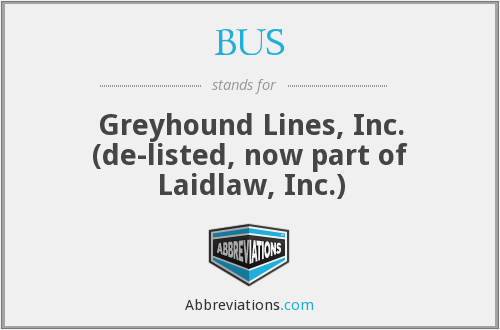 BUS - Greyhound Lines, Inc. (de-listed, now part of Laidlaw, Inc.)