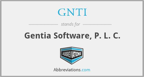 GNTI - Gentia Software, P. L. C.