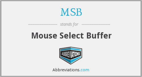 MSB - Mouse Select Buffer