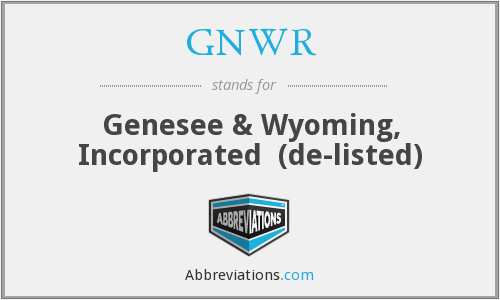 What does GNWR stand for?