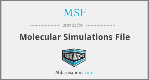 MSF - Molecular Simulations File
