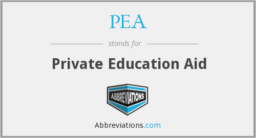 PEA - Private Education Aid