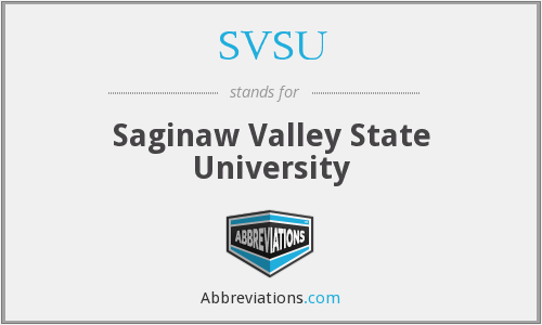 What does SVSU stand for?