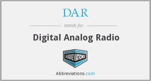 DAR - Digital Analog Radio
