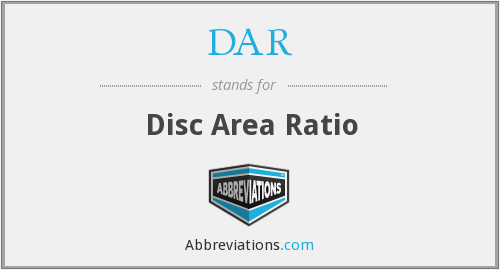 DAR - Disc Area Ratio