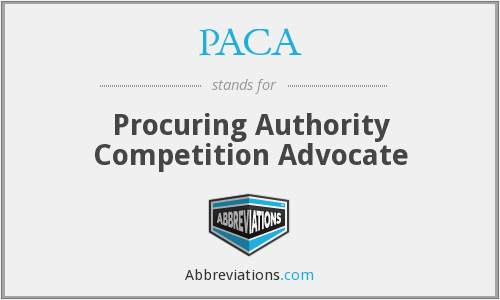 PACA - Procuring Authority Competition Advocate