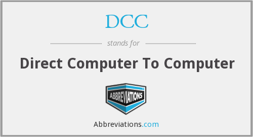 DCC - Direct Computer To Computer