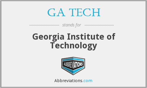 What does GA TECH stand for?