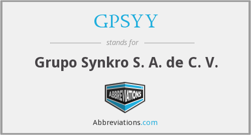 What does GPSYY stand for?
