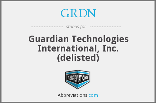 GRDN - Guardian Technologies International, Inc. (delisted)