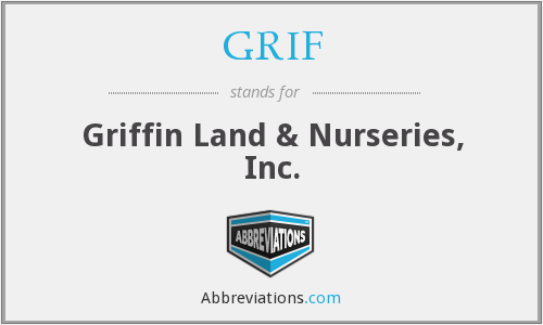 GRIF - Griffin Land & Nurseries, Inc.