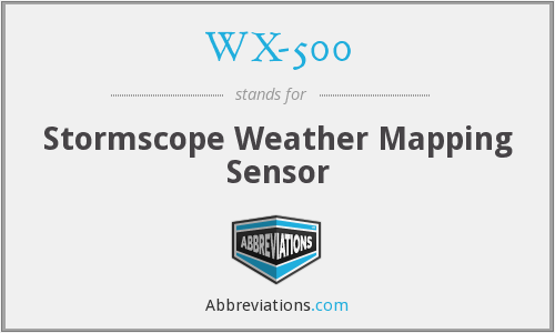 WX-500 - Stormscope Weather Mapping Sensor