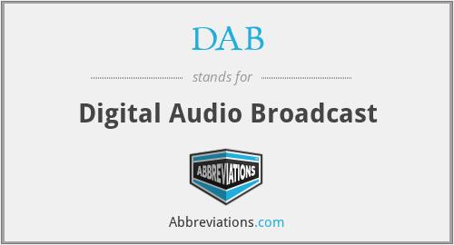 DAB - Digital Audio Broadcast