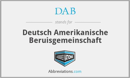 DAB - Deutsch Amerikanische Beruisgemeinschaft