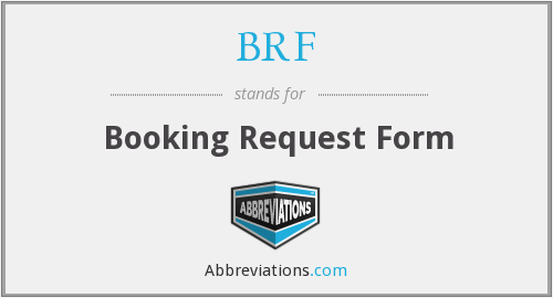 BRF - Booking Request Form