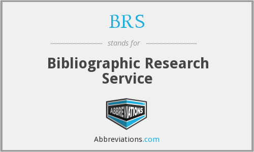 BRS - Bibliographic Research Service