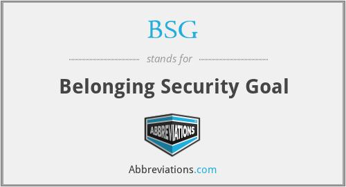 BSG - Belonging Security Goal