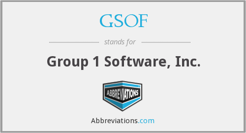 What does GSOF stand for?