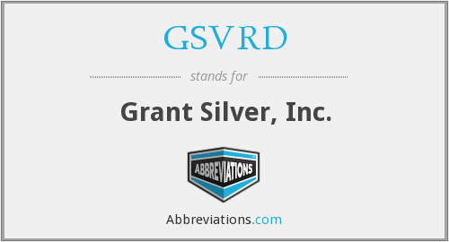 What does GSVRD stand for?