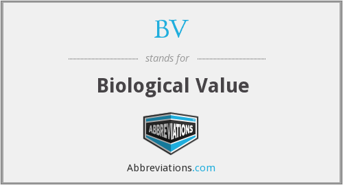 BV - Biological Value