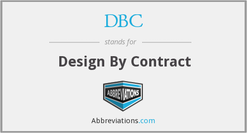DBC - Design By Contract