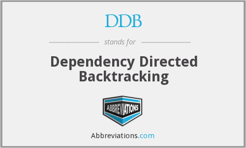 DDB - Dependency Directed Backtracking