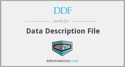 DDF - Data Description File
