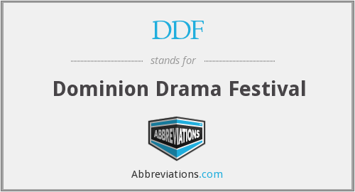 DDF - Dominion Drama Festival