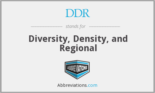 DDR - Diversity, Density, and Regional