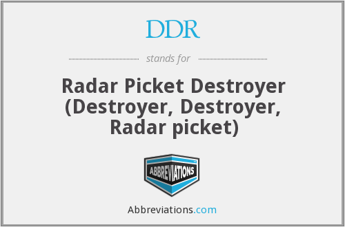 DDR - Radar Picket Destroyer (Destroyer, Destroyer, Radar picket)