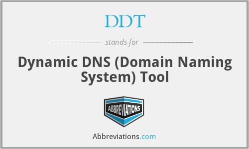 DDT - Dynamic DNS (Domain Naming System) Tool