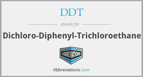 DDT - Dichloro Diphenyl Trichlorethane