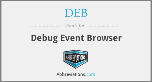 DEB - Debug Event Browser