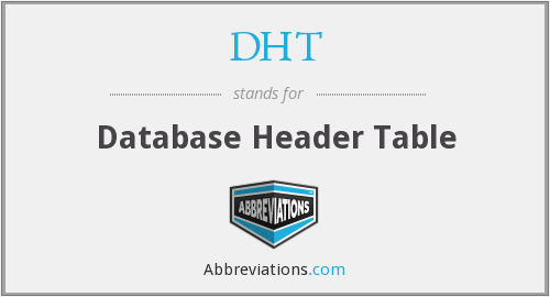 DHT - Database Header Table