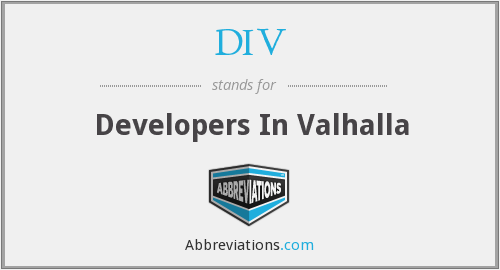DIV - Developers In Valhalla