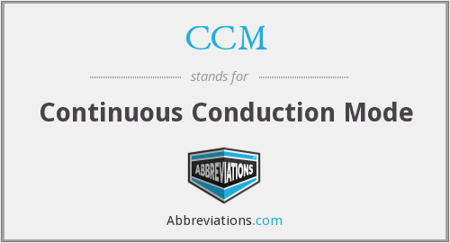 CCM - Continuous Conduction Mode