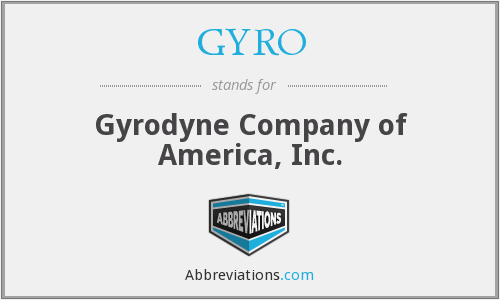 What does GYRO stand for?
