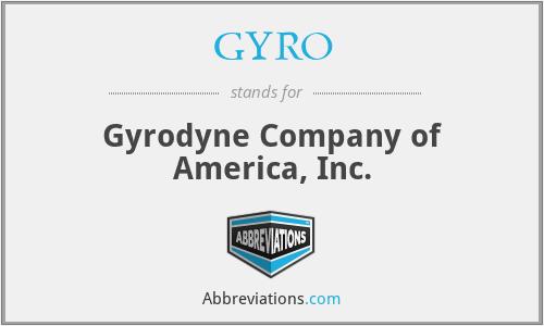 GYRO - Gyrodyne Company of America, Inc.