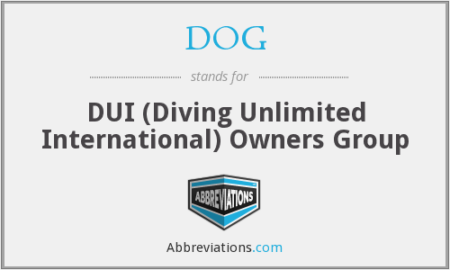 DOG - DUI (Diving Unlimited International) Owners Group
