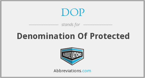 DOP - Denomination Of Protected