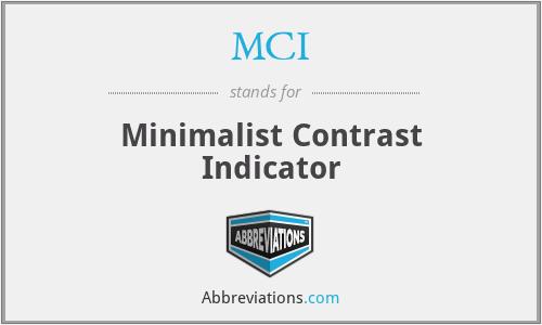 MCI - Minimalist Contrast Indicator