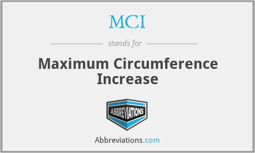 MCI - Maximum Circumference Increase