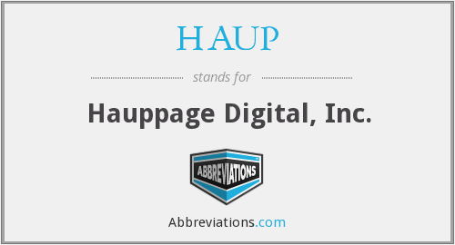 HAUP - Hauppage Digital, Inc.