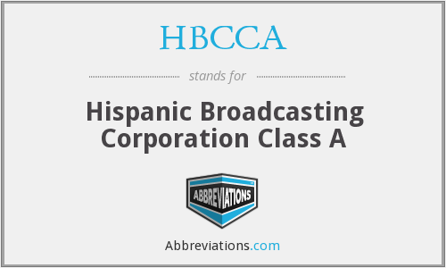 What does HBCCA stand for?