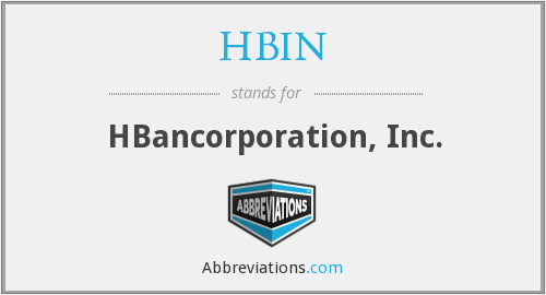 HBIN - HBancorporation, Inc.