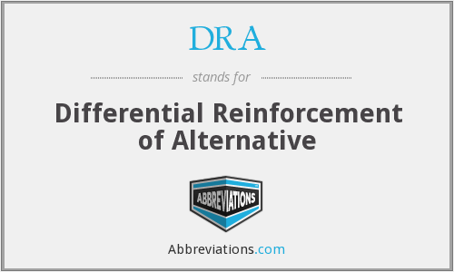 DRA - Differential Reinforcement of Alternative