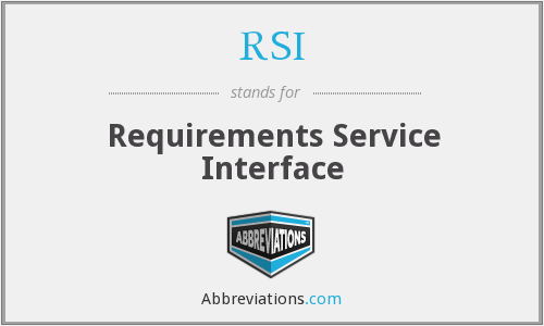 RSI - Requirements Service Interface