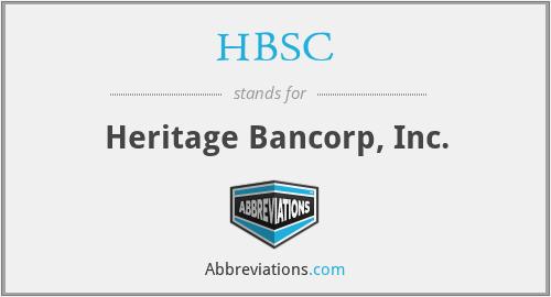 HBSC - Heritage Bancorp, Inc.